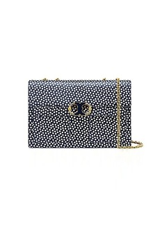Tory Burch GEMINI LINK PRINTED LARGE CHAIN SHOULDER BAG