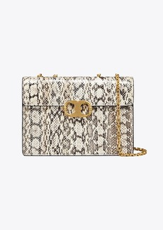 Tory Burch GEMINI LINK SNAKE MEDIUM CHAIN SHOULDER BAG