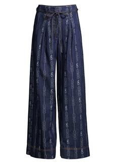 Tory Burch Gemini Link Wide-Leg Jeans