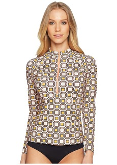 Tory Burch Geo Octagon Square Surf Shirt