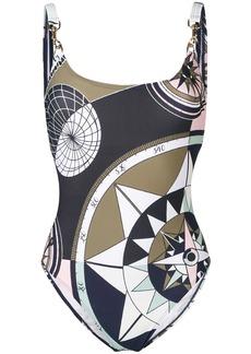 Tory Burch geometric print swimsuit