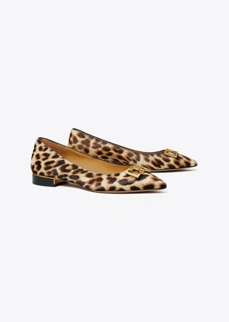 Tory Burch Gigi Leopard Pointed-Toe Flat