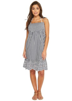 Tory Burch Gingham Beach Dress Cover-Up