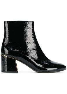 Tory Burch gold-tone appliqué ankle boots