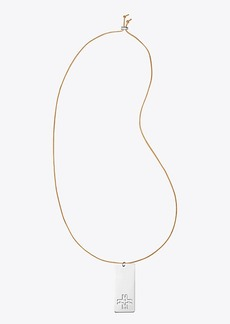 Tory Burch H DOG TAG NECKLACE