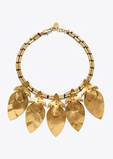 Tory Burch HAMMERED STATEMENT COLLAR NECKLACE