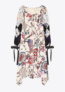 Tory Burch HAPPY TIMES MIXED-PRINT DRESS
