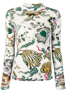 Tory Burch Happy Times printed turtleneck top