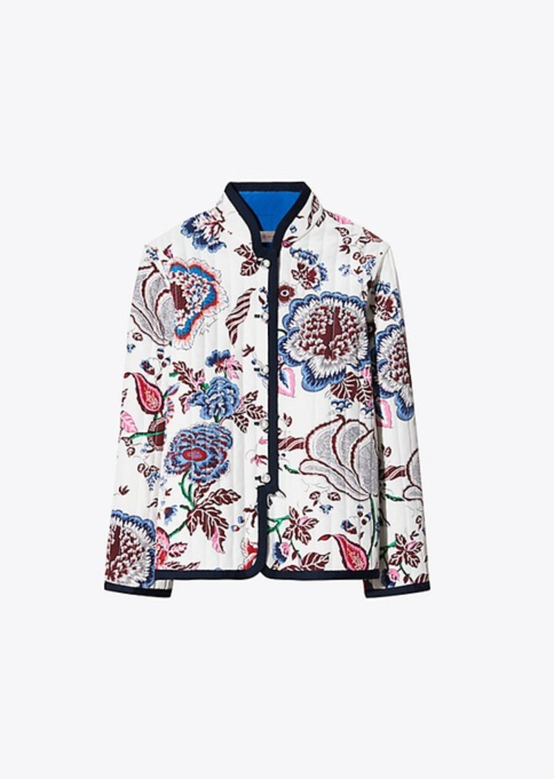 f984b97d34d6 Tory Burch HAPPY TIMES QUILTED REVERSIBLE JACKET Now  599.00