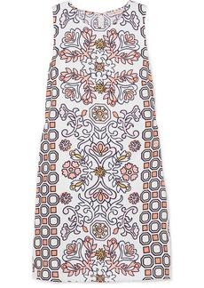 Tory Burch Hicks Garden Printed Linen-blend Mini Dress