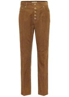 Tory Burch High-rise cotton corduroy pants