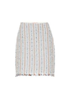 Tory Burch Hollis linen and cotton-blend skirt