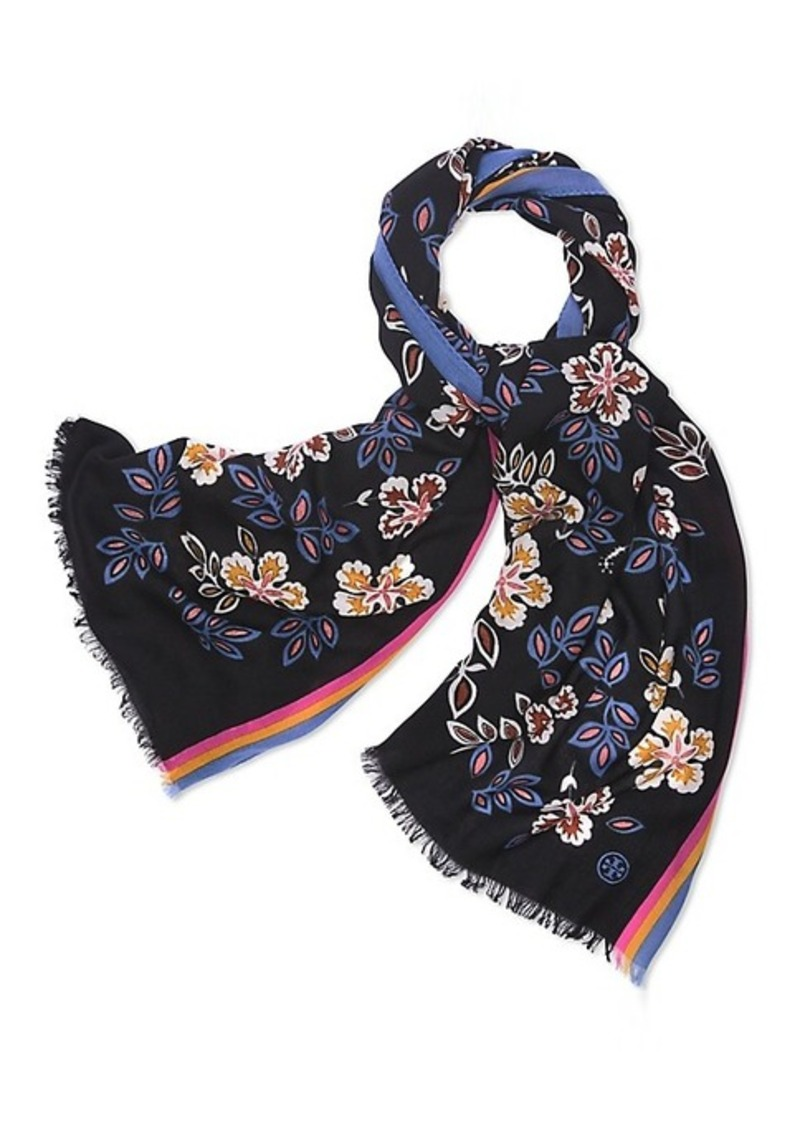 705e7f0158e On Sale today! Tory Burch HOPEWELL-PRINT OBLONG SCARF