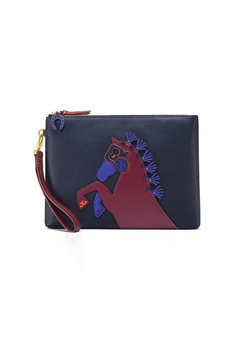 9723137f9e8 Tory Burch HORSE LARGE POUCH