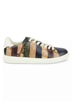 Tory Burch Howell Court Snakeskin-Embossed Sneakers