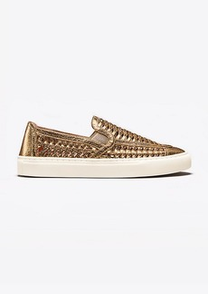 Tory Burch HUARACHE METALLIC SLIP-ON SNEAKER