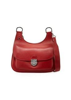 Tory Burch James Smooth Leather Saddle Shoulder Bag