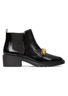 Tory Burch Jessa Lug-Sole Leather Chelsea Boots