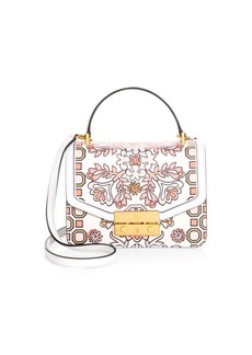 Tory Burch Juliette Printed Leather Mini Top Handle Satchel