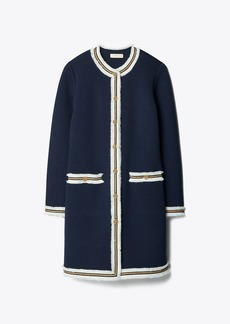 Tory Burch KENDRA FRINGED SWEATER COAT