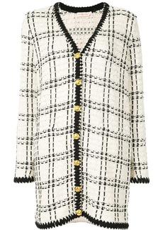 Tory Burch Kendra tweed cardi-coat