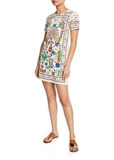 180935d964 Tory Burch Kerry Crewneck Short-Sleeve T-Shirt Dress