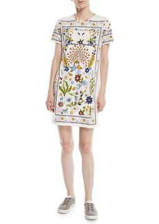 Tory Burch Kerry Short-Sleeve Meadow T-Shirt Dress