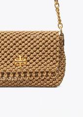 Tory Burch Kira Chevron Macramé Woven Small Shoulder Bag