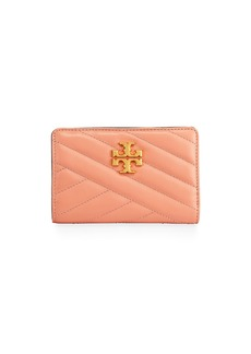 Tory Burch Kira Medium Slim Quilted Leather Wallet