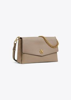 Tory Burch Kira Mixed-Materials Double-Strap Shoulder Bag