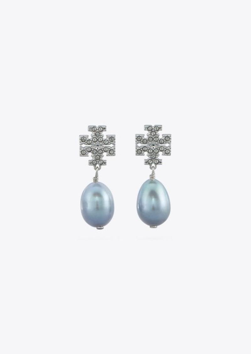 Tory Burch Kira Pavé Pearl Drop Earring