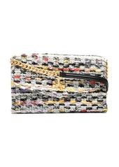 Tory Burch Kira tweed chain wallet