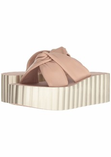 Tory Burch Knotted Scallop Wedge Slide