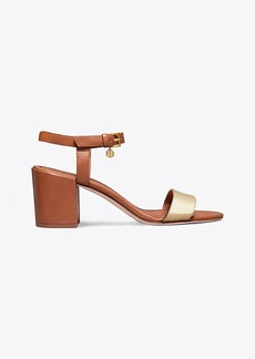 Tory Burch LAUREL METALLIC ANKLE-STRAP SANDAL