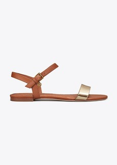 Tory Burch LAUREL METALLIC FLAT SANDAL