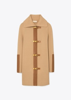 Tory Burch Leather Sweater Coat