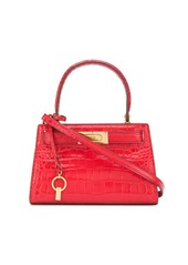 Tory Burch Lee Radziwill embossed petite satchel