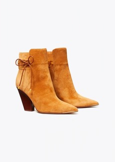 Tory Burch Lila Suede Scrunch Ankle Boot