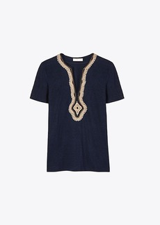 Tory Burch LILIANA EMBELLISHED T-SHIRT