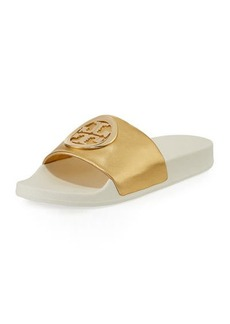 Tory Burch Lina Metallic Slide Pool Sandal