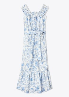 Tory Burch LINEN RUFFLE DRESS