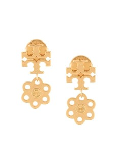 Tory Burch logo charm earrings