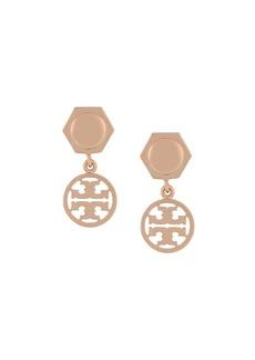 Tory Burch logo drop earrings
