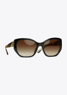 Tory Burch Logo-Hinge Sunglasses