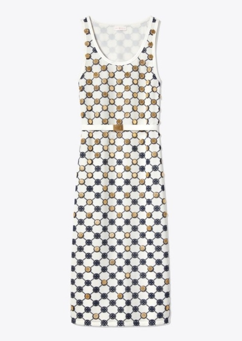 Tory Burch Logo Lace Tank Dress