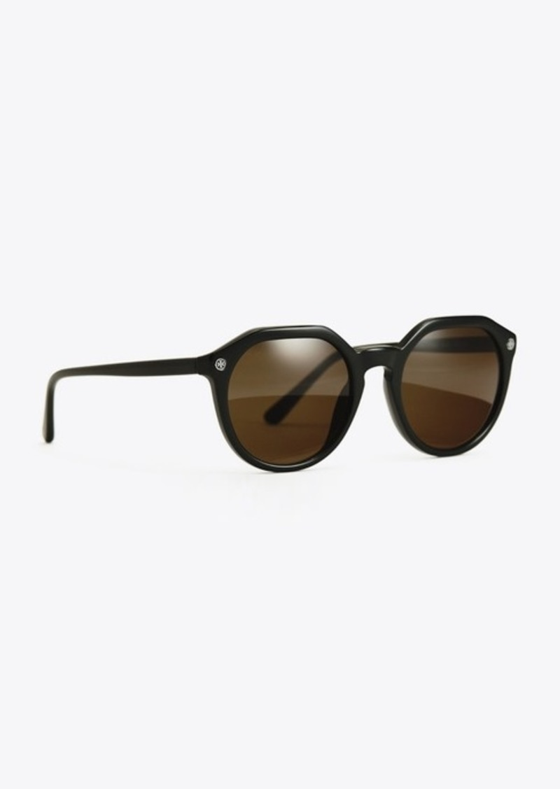 Tory Burch LOGO-TEMPLE SUNGLASSES
