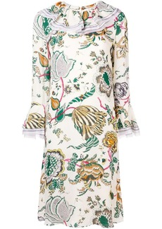 Tory Burch long-sleeve print midi dress