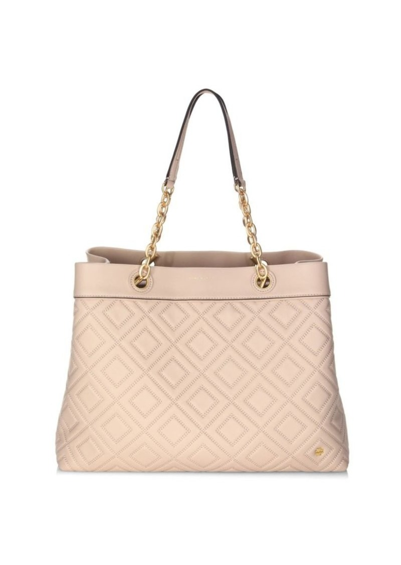 Louisa Leather Tote Tory Burch