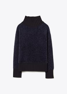 Tory Burch Lurex Oversized Sweater