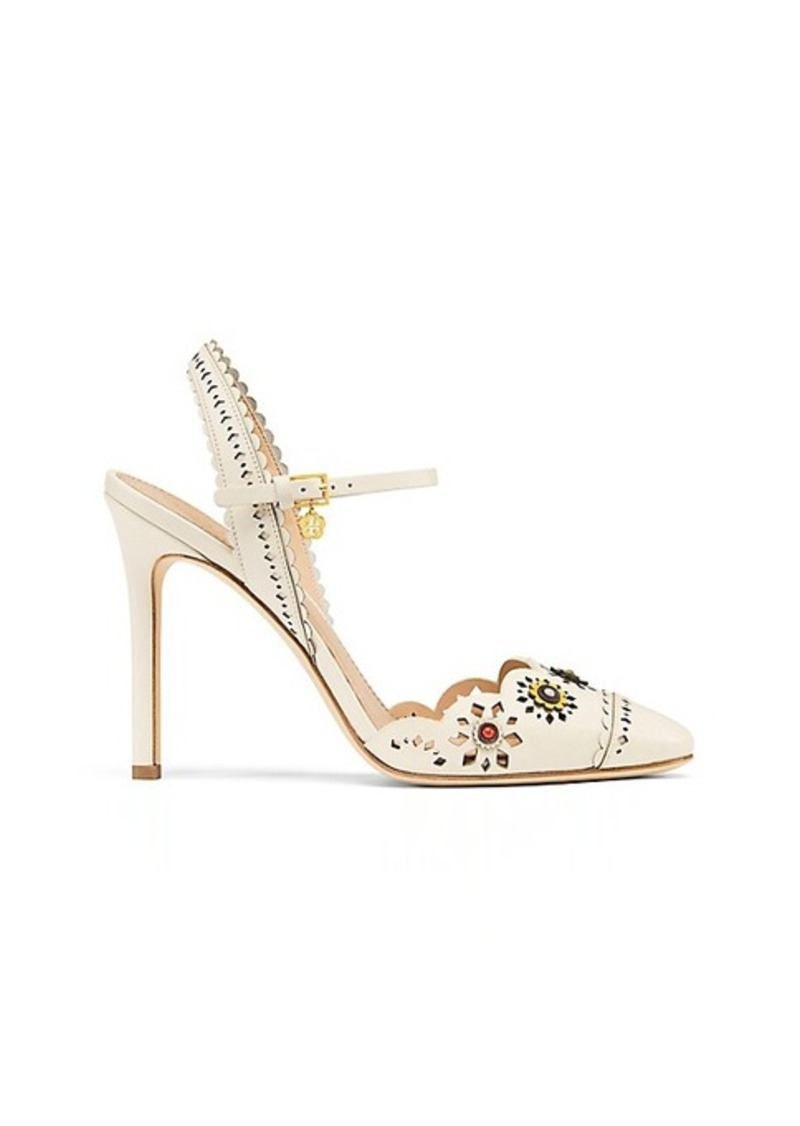 ca67a3bd1f9 Tory Burch MARGUERITE PERFORATED SLINGBACK SANDAL
